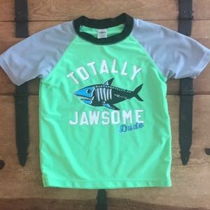OshKosh B'gosh Boys Neon Green Graphic Tee Shirt